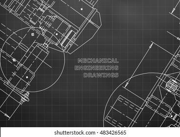 Mechanical Engineering Drawing Design Construction Black