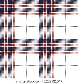 Blue,red and white tartan plaid Scottish seamless pattern.