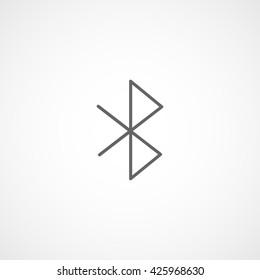 Bluetooth Line Icon On White Background