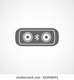 Bluetooth Speakers Flat Icon On White Background