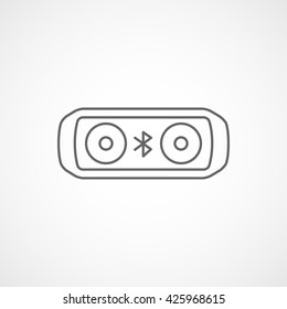 Bluetooth Speakers Line Icon On White Background