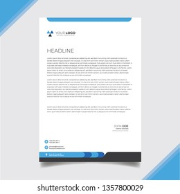 Bluish letterhead design