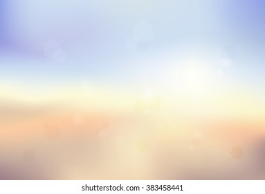 Blur background in colors of sundown on a beach.