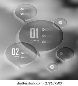 Blur business step transparent and shadows options banner. Vector illustration. can be used for , diagram, number options, step up options, web template, infographics. Blur, shadows background