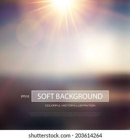 Blur landscape abstract background. Vector illustration