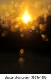 Blur soft sunshine landscape background. Vector illustration