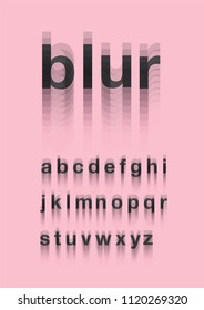 blur typography design vector