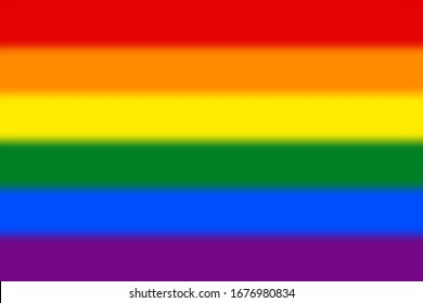 Blurred background with Gay pride flag . Vector illustration