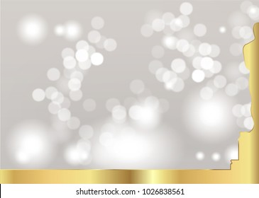 blurred background with golden statue silhouette. Academy award icon in flat style isolated. Gold Silhouette statue icon. Films and cinema symbol stock vector illustration.