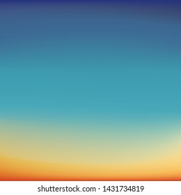 Blurred background imitating such beautiful natural phenomena as sunrise and sunset, violet-blue and yellow-orange gamma, vector. Great as a background for a poster, web pages, advertising, or other.