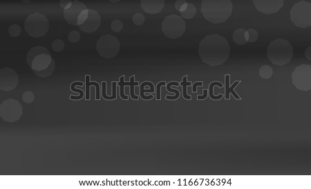 Blurred Black White Gray Bokeh Background Stock Vector