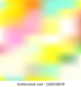 Blurred bright colors mesh background. Smooth blend banner template. Abstract vector nature gradient, Multicolor gradient, summer tropical. Sunset and sunrise sea ocean sky, rainbow wallpaper.