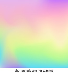 Blurred colorful background looking like hologram paper.