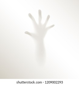 Blurred Creepy Hand Fingers Mysterious Persecution Horror Fear Halloween Fog