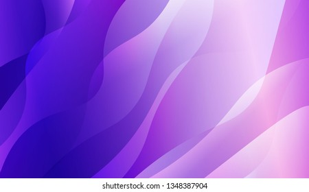 Blurred Decorative Design In Abstract Style With Wave, Curve Lines. For Creative Templates, Cards, Color Covers Set. Vector Illustration with Color Gradient