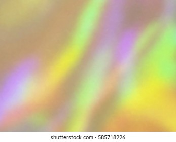 Blurred defocused holographic background. Grain spotted surface. Trendy digital noise. Abstract composition, vector EPS10. Not trace image, include mesh gradient only