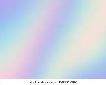 Blurred hologram texture gradient wallpaper. Blurry iridescent mermaid background. Liquid colors neon background. Fluorescent hologram neon glitch texture vector backdrop.