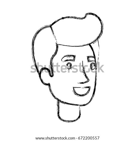 Blurred Silhouette Man Face Pompadour Hair Stock Vector Royalty