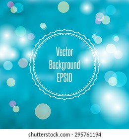 Blurred spring or summer abstract background in light pastel colors with bokeh copyspace for your text. Vector Illustration EPS10.