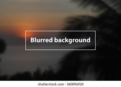 Blurring background. Vector eps 10