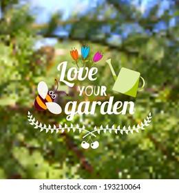 Blurry background. Love your garden illustration.