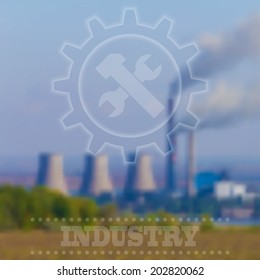 Blurry Industrial Background. Vector Illustration, Interface Template.