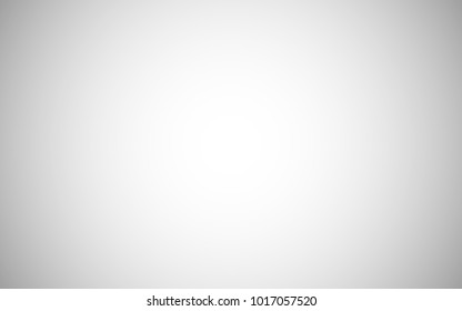 Blurry neutral gray 16x10 background. Bright digital empty photo studio room. Brilliant white plain vector backdrop.