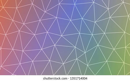 Blurry triangle texture. Design for flyer, wallpaper, presentation, paper. Vector illustration. Light Gradient Abstract Background