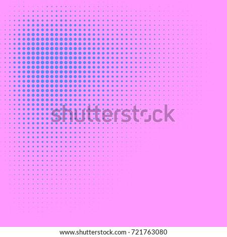 Blush Pink Violet Blue Color Halftone Stock Vektorgrafik Lizenzfrei