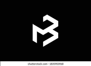 BM letter logo design on luxury background. MB monogram initials letter logo concept. BM icon design. MB elegant and Professional letter icon design on black background. BM MB M B