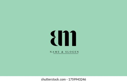 BM MB abstract vector logo monogram template