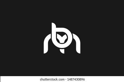bm, mb Letter Logo Design with Creative Modern Trendy Typography