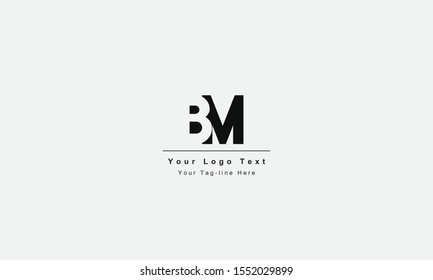 BM or MB letter logo. Unique attractive creative modern initial BM MB B M initial based letter icon logo