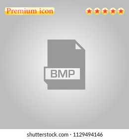 bmp Icon vector.Perfect grey illustration on white background.