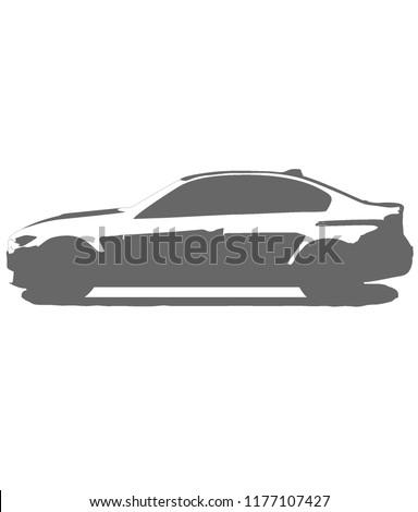Bmw M 3 Sports Car Vector Symbol Stock Vector Royalty Free