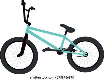 BMX bike on white background
