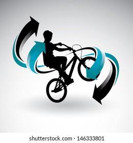 Bmx biker with arrows