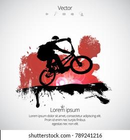 BMX rider during trick