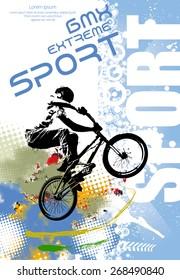BMX rider. Vector design.