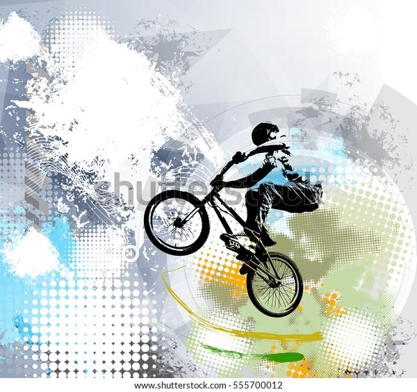 BMX trick, vector