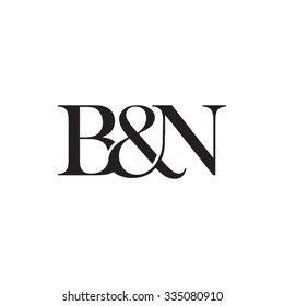 B&N Initial logo. Ampersand monogram logo
