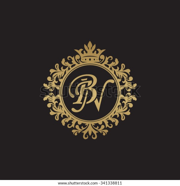 Bn Initial Luxury Ornament Monogram Logo Stock Vector Royalty Free 341338811