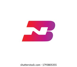 BN NB LETTER LOGO DESIGN VECTOR TEMPLATE.