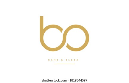 BO ,OB ,B ,O  Abstract Letters Logo Monogram