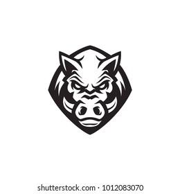 Boar modern logo template