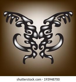 Boar tattoos.vector