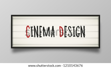 Board Announcements Classic Letter Board Your Stock Vector Royalty