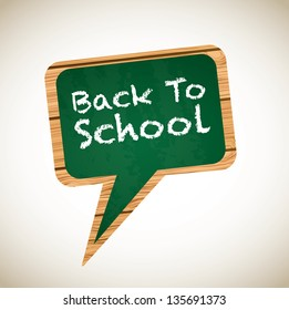 board with a back to school announcement