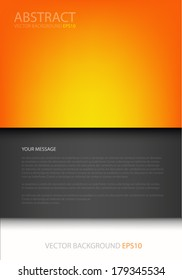 board background vector orange board on black and grey gray background document for text and message design for brochure and web modern artwork