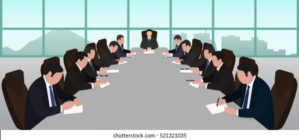 Board of Directors the head of the company meeting negotiation